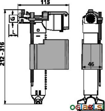 Polnilni ventil SANIT 510(multiflow) G1/2