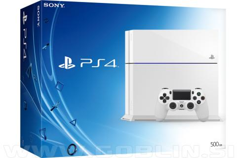 PlayStation 4 500GB bel (PS4) + bon 20€
