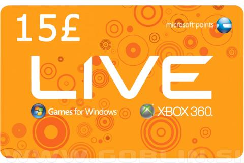 Xbox Live Gift Card 15 GBP (UK)