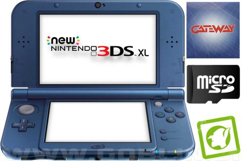 New Nintendo 3DS XL metalno moder + Gateway 3DS + Cubic Ninja + SD 4GB + napajal