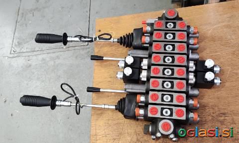 Hidravlični krmilni ventil za gozdarsko prikolico