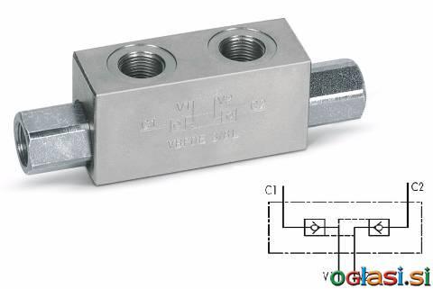 Hidravlični nepovratni ventil za cevno vgradnjo - SPG d.o.o.