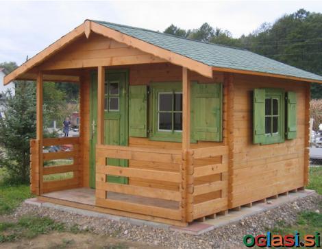 Lesena vrtna hišica