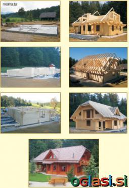 Montaža lesenih hiš, brunaric, paviljonov
