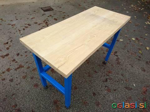 Ponk; delovna miza 1280 x 570 mm debelina masive 40 mm