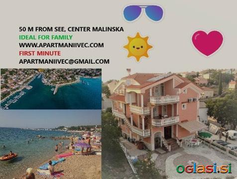 Apartmaji otok Krk malinska Istra Hrvatska primorje more 50 m