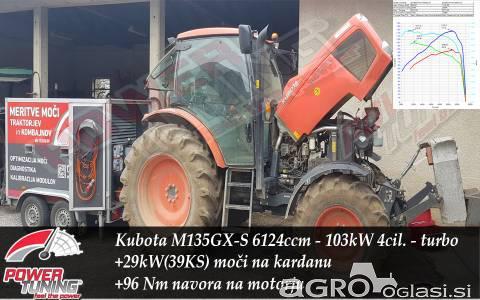 Povečanje moči in navora traktorja