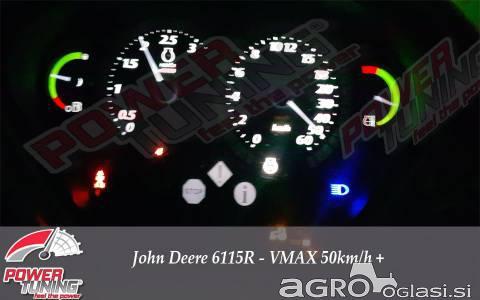 Sprememba hitrosti iz 40 na 50km/h