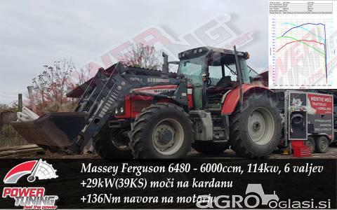 Povečanje moči in navora traktorja ali kombajna
