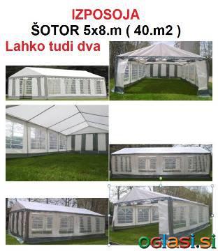 ŠOTOR (VRTNI PAVILJON) 5x8.m