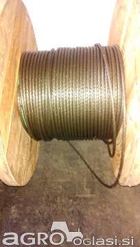 Jeklena vrv (zajla) za gozdarske vitle, 11 mm