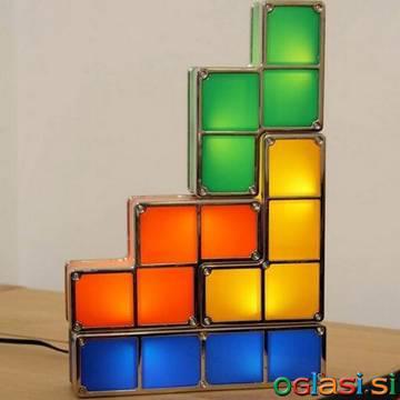 Retro tetris namizna svetilka, ki se poljubno sestavi