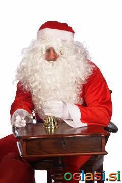 Brada in lasulja za dedka mraza ali set za božička lasulja brada in očala PU+B