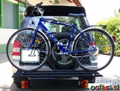 Nosilci za prevoz koles smuči ali tovora